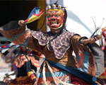 Dancing lamas of the Kingdom of Bhutan